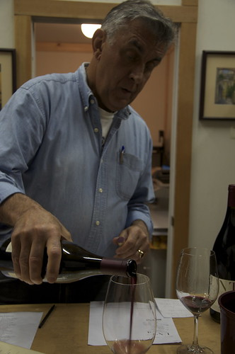 George Unti kept up a steady stream of sardonic commentary, all without missing a pour. Our kind of winemaker.
