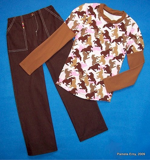 Horse Print Top and Pants