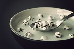 A Breakfast of Champions (powerpig) Tags: breakfast milk starwars lego helmet cereal spoon stormtrooper