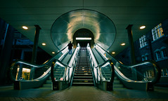 Central station (Stig Nygaard) Tags: people architecture night stairs copenhagen denmark iso800 interestingness lowlight notes escalator wideangle symmetry explore staircase dk creativecommons cph vesterbro danmark flickrblog 2009 futuristic kbenhavn movingstaircase dnk copenhagencentralstation canonefs1022mmf3545usm hovedbanegrden 50d kbenhavnh kbenhavnv kbenhavnshovedbanegrd canoneos50d 1000faves epiceditsselection featuredonadidapcom metronyt photobystignygaard centralspacestation