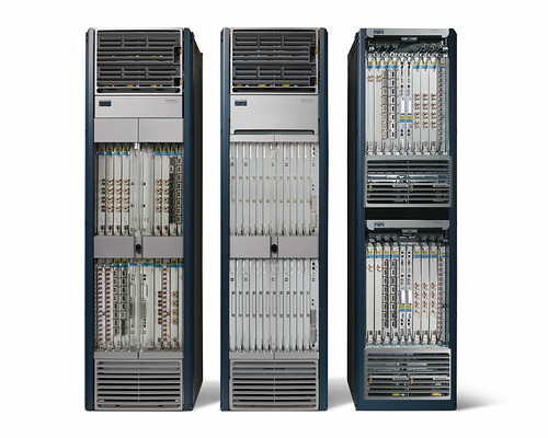Cisco CRS-1 Multi-Chassis (16-Slot Line Card Chassis, Fabric Card Chassis, 8-Slot Chassis) with housing