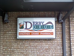 Another Damm Pharmacy (Adam A. Messinger) Tags: signs humor business pharmacy env vx9900 lgenv