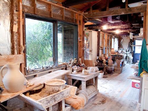 gooseneck pottery - studio