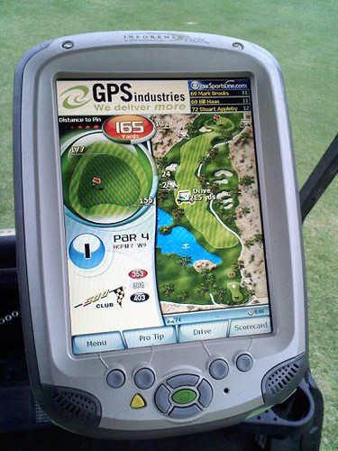 New cart technology at the course this year. If only it ran Firefox too...