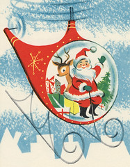 Helicopter Santa (hmdavid) Tags: santa christmas art illustration vintage helicopter card