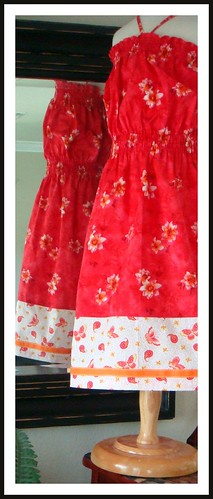 Shirred Red Sundress