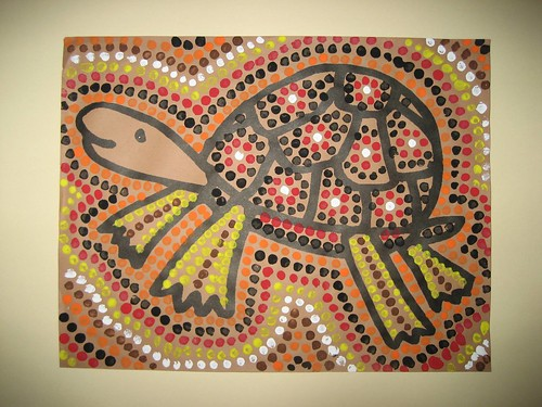 aboriginal dot art. Australian Aboriginal Dot Art: