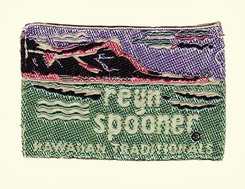 vintage advertising hawaii clothing graphic label tag ephemera diamondhead aloha alohashirt reynspooner