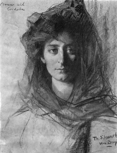 Woman from Cordoba, Thérèse Schwartze.