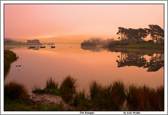 One I Made Earlier. (ericwyllie) Tags: trees colour fog sunrise landscape boats dawn scotland eric time outdoor backgrounds loch 2009 kilmacolm gloaming inverclyde knappsloch ericwyllie mywinners abigfave