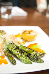 Crispy Asparagus with Parmesan and Meyer Lemon Aioli, Restaurant LuLu, San Francisco