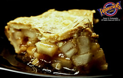 Fudruckers Apple Pie (Rayan M.) Tags: food black apple cake pie dessert photography yummy sweet sauce sony ad restaurants fast m advertisement chain saudi arabia syrup jeddah alpha dslr 1870mm baked fudruckers ksa   rayan       a350