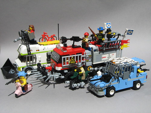 LEGO zombie apocalypse vehicles