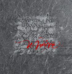 undine (betina naab) Tags: art collage exhibition canvas calligraphy gouache variations unryu cursive aria letras capitals caligrafa exposicin tiralneas duetto maysculas rulingpen