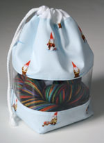 Peek-a-boo Bag - Heather Ross (blue Gnomes)
