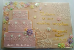 Welcome boad (JILL's Sugar Collection) Tags: wedding food cookie decoration sugar icing piping picnik foodcolor royalicing sugarcraft