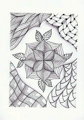 (Jo in NZ) Tags: pen drawing line innk zentangle nzjo zendoodle