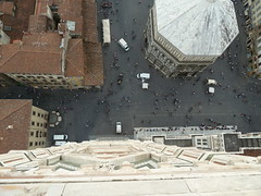 Looking straight down from Campanile