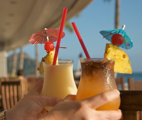 Sunset cocktails from Ocean House at Outrigger Reef on the Beach