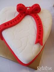 Kalp -Seni Seviyorum pastası..