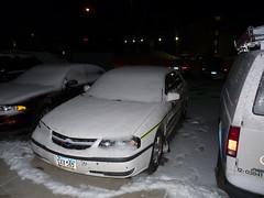 Next Morning (PostaL cm) Tags: trip snow green ice yellow john north johnathan agriculture bismarck dakota deere agricultural frederick washburn rdo