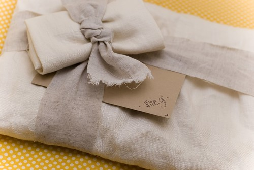 gift from JCHandmade - beautifully simple wrapping