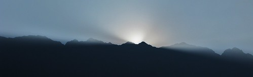 Sunset behind the mountain range - Sapa, Vietnam