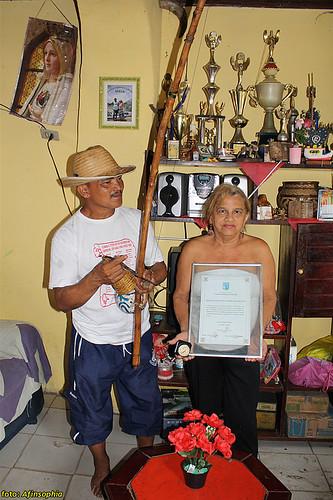 Mestre Ray e sua primeira-dama, Dona Nazaré