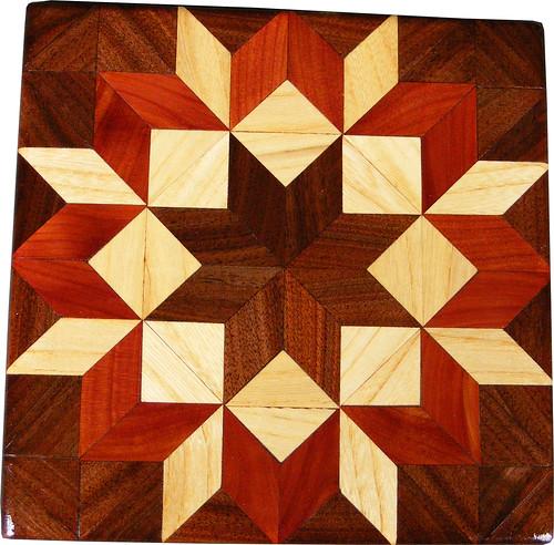 Wood Quilt Blocks a set by woodmosaics