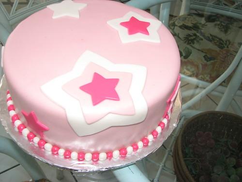 Pink Starry Fondant Cake