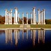 USA - Washington DC - National Arboretum Capitol columns