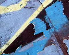 (Scribbles With Cameras) Tags: blue abstract texture wall poster paint angle line torn haphazartblue