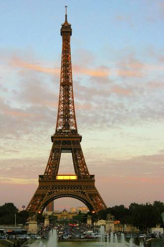 10:40PM, sundown at Eiffel