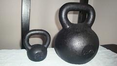 Kettlebells 4kg(9lb) And 50kg(110lb) (Popjesto) Tags: bell 4 kettle kg 50 workout kettlebell 50kg 4kg