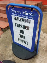 Earlswood Flasher on the prowl