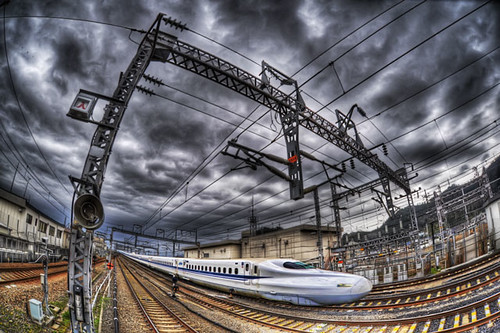 Bullet train@Maibara by xjrshimada, on Flickr