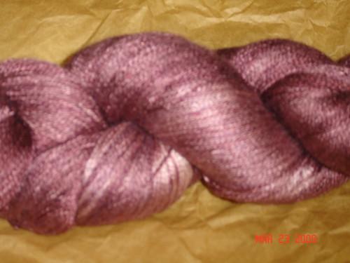 "For SALE Sundara Yarn Silk Lace ""Merlot Over Cream"""