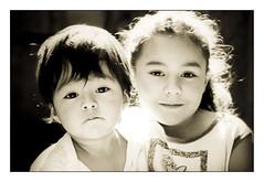 Joy / Sadness (Armando Alvarez) Tags: light portrait people blackandwhite bw baby cute blancoynegro film girl mxico kids canon mexico guadalajara nios armandoalvarez