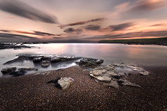Rocks, Sea, Sky (dan barron photography - landscape work) Tags: uk longexposure sunset seascape northumberland whitleybay sigma1020mm nikond90 6stop
