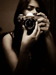 (Isha Shukla) Tags: selfportrait sepia canon ae1 28mm grains filmslr veryverybored ishashukla