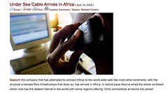 Under Sea Cable Arrives in Africa - Appfrica
