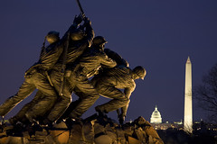 The men of Iwo Jima (Rozanne Hakala) Tags: city sculpture usa history statue usmc bronze night dc washington districtofcolumbia marine memorial military wwii capitol corps rosslyn washingtonmonument iwojima earthnight abigfave anawesomeshot citrit theperfectphotographer
