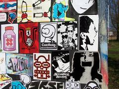 stickercombo (wojofoto) Tags: streetart amsterdam stickerart stickers irule stickercombo earworm lukedaduke putup freaq bitedust cucroig