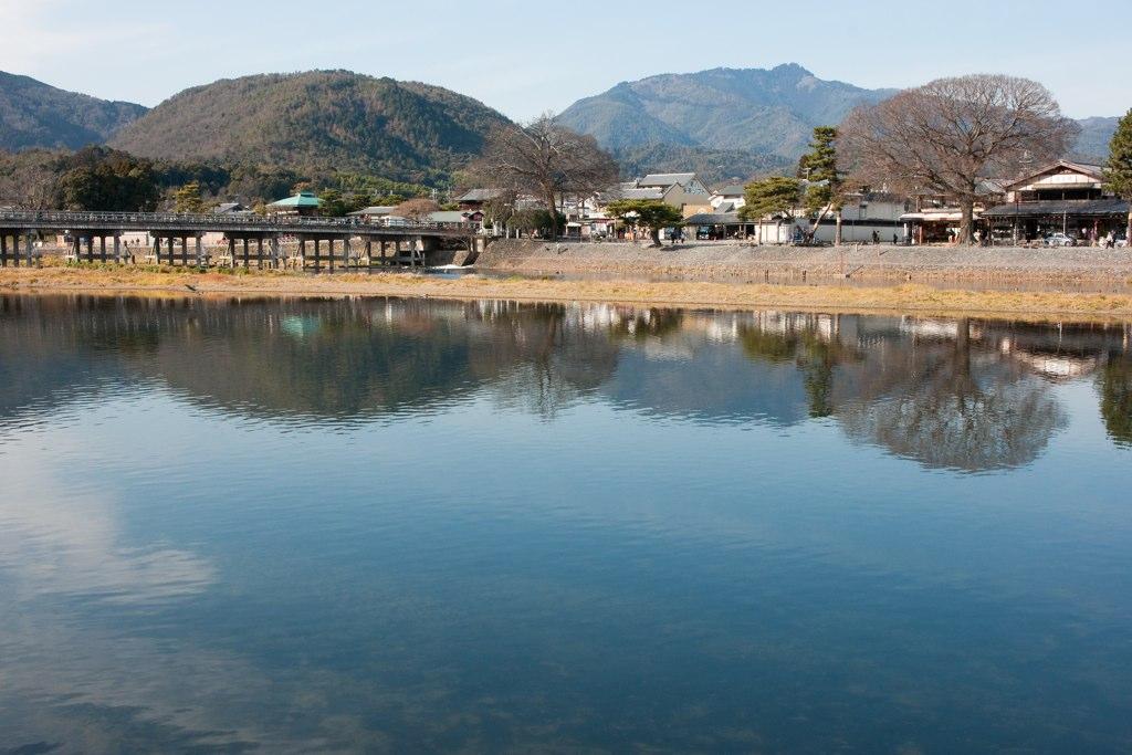 Katsura river at Arashiyama, Kyoto