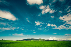 waimea (SARA LEE) Tags: morning blue sky mountains green field grass clouds landscape hawaii early big country wide surreal waimea bigisland distance kamuela kohala sarahlee legothenego vivantvie