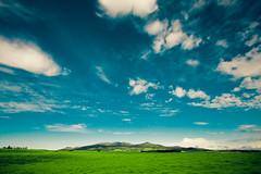 waimea (SARA LEE) Tags: morning blue sky mountains green field grass clouds landscape hawaii early big country wide surreal waimea bigisland distance kamuela kohala sarahlee legothenego vivantvie