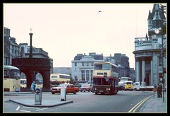Granite City! buses at The Castlegate (SemmyTrailer) Tags: guy cortina scotland shell aberdeen alexander daimler fleetline grampian bigj moskovich