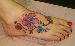 foot2 (wages) Tags: flowers leaves tattoo foot branch nashville shannon wages shannonwages