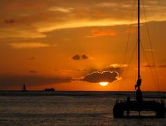 The Day's Last Rays (zoniedude1) Tags: ocean sunset sea sky sun
