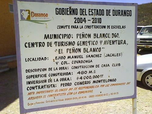 Información del sitio turistico